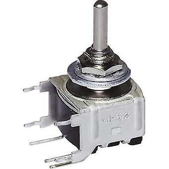 Rotary switch 28 V DC/AC 0.1 A Switch postions 3 2 x 45 ° NKK Switches MRB14B 1 pc(s)