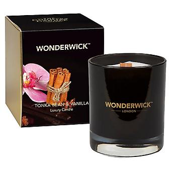 Wonderwick Noir Candle in a Glass - Tonka Bean & Vanilla