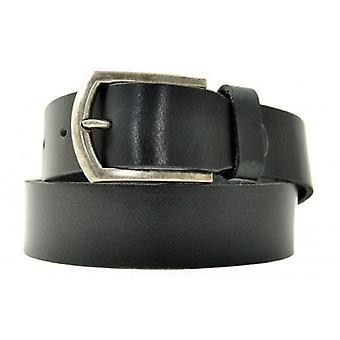 Petrol Leather Jeans Belt Black( 40871)