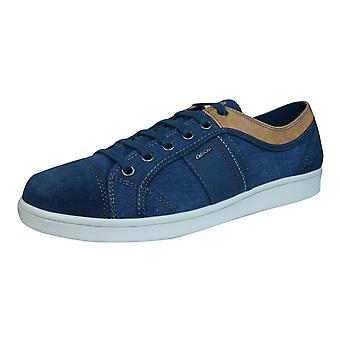 Geox Trainers U Warrens A Mens Lace Up Shoes - Navy