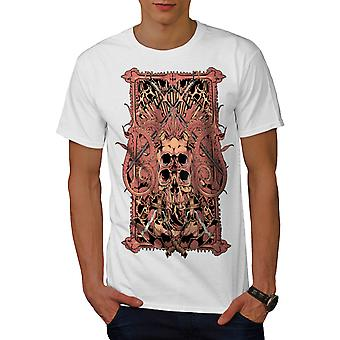 Dungeon Of The Dead Sword Skull Men White T-shirt | Wellcoda