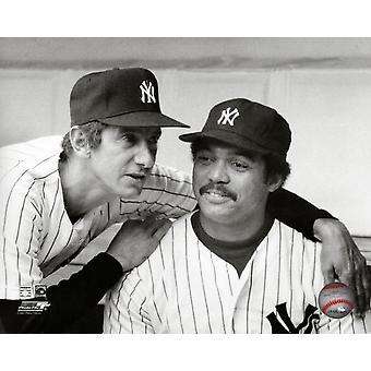 Billy Martin & Reggie Jackson 1977 Photo Print
