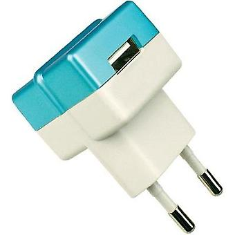 USB charger Mains socket HN Power HNP05-ECO-BLUE-C Max. output current 1000 mA 1 x USB