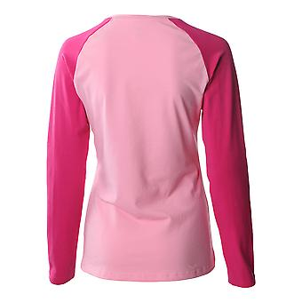 ASICS Essentials Long Sleeve Colourblock Womens Fitness Running Shirt Tee