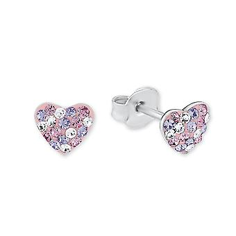 Princess Lillifee children earrings silver heart crystals 2013168