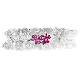 Hen Party White Flashing Bride To Be Garter