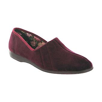 GBS Ladies Audrey Classic Ladies Slippers Textile Rubber Slip On Fastening Shoes