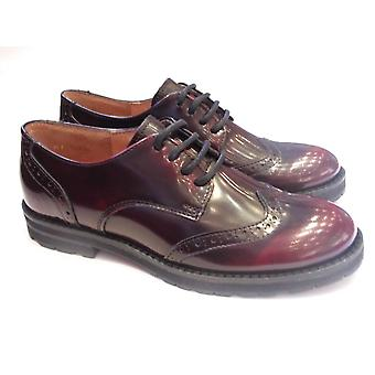 Froddo Girls Brogue Shoes Oxblood Patent Leather Brogue | Froddo