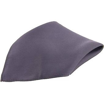 David Van Hagen Satin Silk Handkerchief - Slate Grey