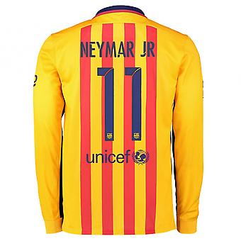 2015-2016 Barcelona Long Sleeve Away Shirt (Neymar Jr 11)