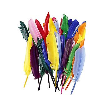 250 Bright Quill Craft Feathers For Kids Bulk Crafts