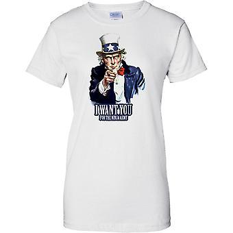 I Want You voor de Ninja leger - grappige Propaganda Recruitment - dames T Shirt