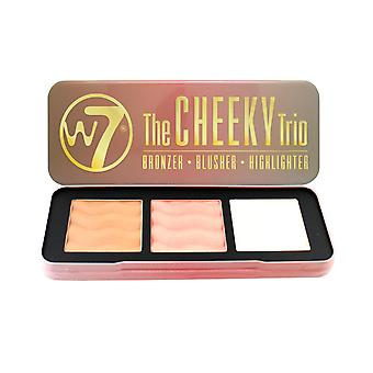 W7 The Cheeky Trio Bronzer, Blusher & Highlighter Powder Palette