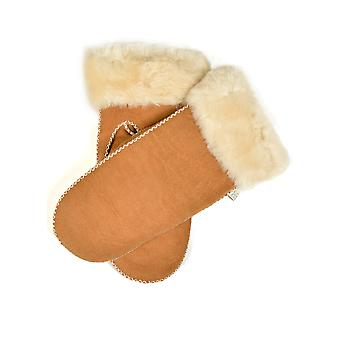 Greta Sheepskin Mittens in cammello