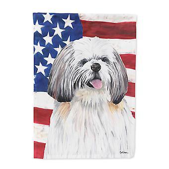 Carolines skatter SC9028-flagg-foreldre USA amerikanske flagget med Shih Tzu flagg