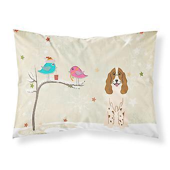 Christmas Presents between Friends Russian Spaniel Fabric Standard Pillowcase