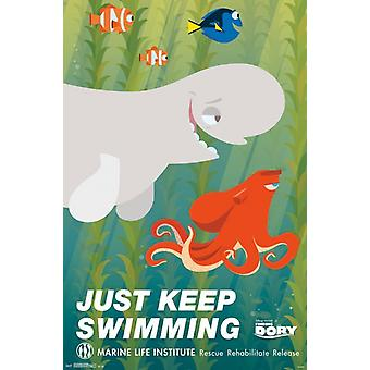 Trouver Dory - natation affiche Poster Print