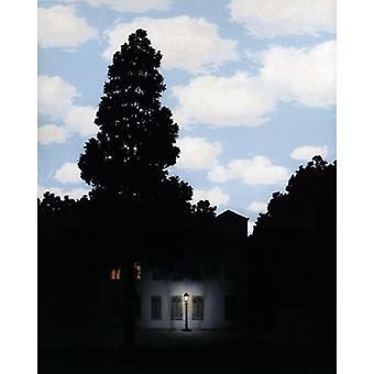 Impresión de cartel Des Lumières 1953-54 Lempire por René Magritte (11 x 14)