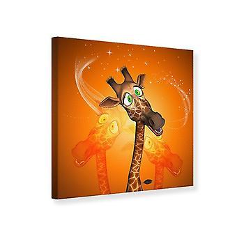 Canvas Print Giraffes Visit
