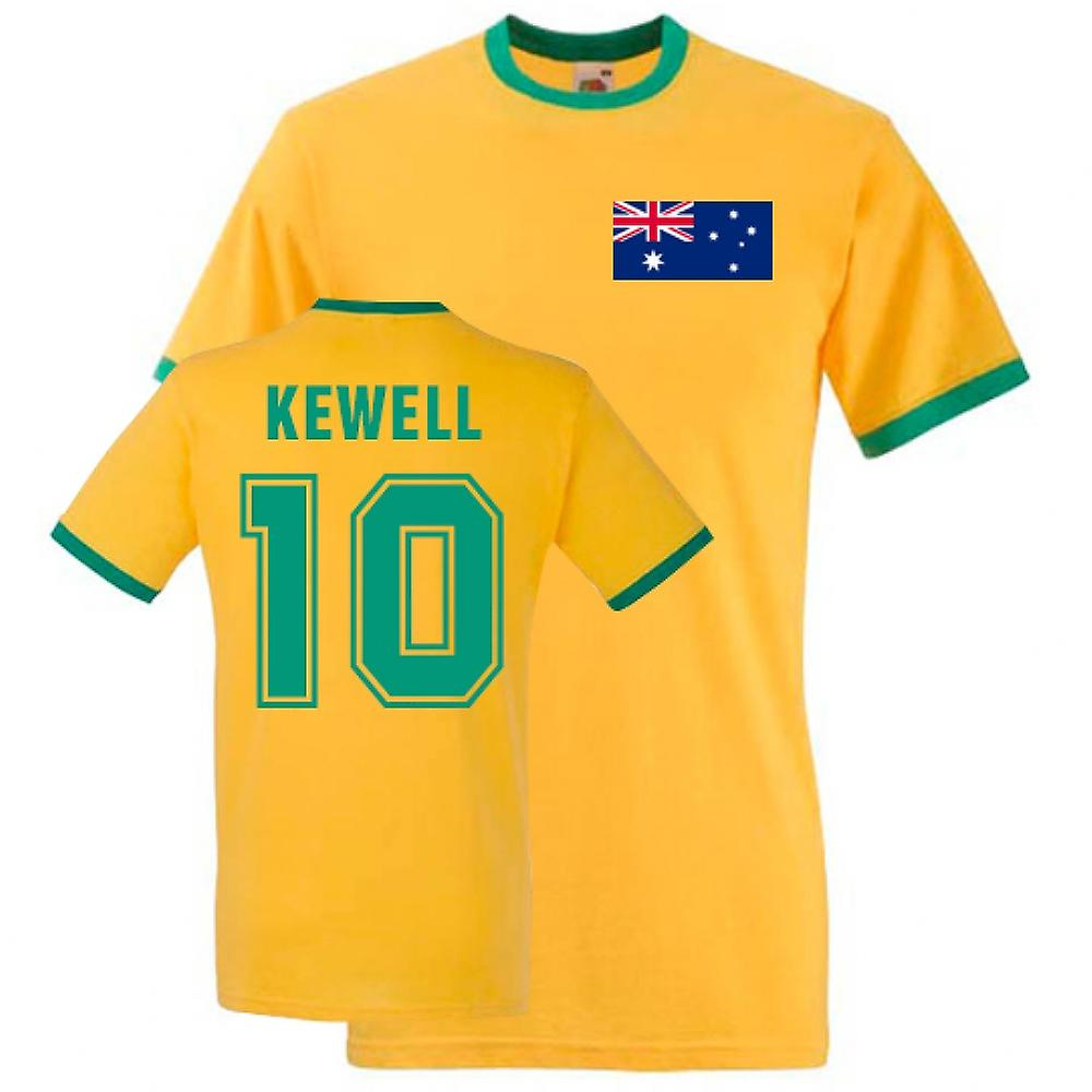 Harry Kewell Australia Ringer Tee (yellow)