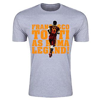 Francesco Totti Roma Legend T-Shirt (grå) - barn