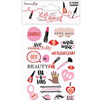Dovecraft Kiss & Make Up Clear Stickers-Clear DCSTK037