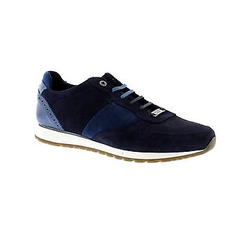 Ted Baker Shindl S - Blue/Multi Leather/Suede Mens Trainers