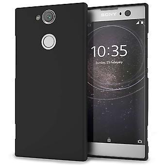 Sony Xperia XA2 mat TPU Silicone - effen zwart