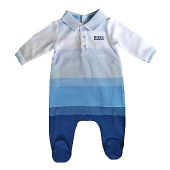 Hugo Boss Kids Hugo Boss Infants Blue Pyjamas And Bib Set