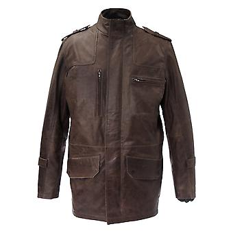 Etna Mens Leather Jacket