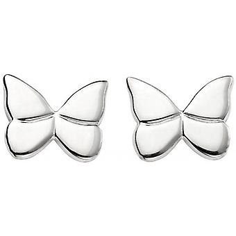 Beginnings Butterfly Stud Earrings - Silver