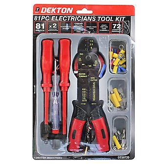 Dekton 81 Piece Electricians Insulated Tool Kit Screwdriver Testing DT20720