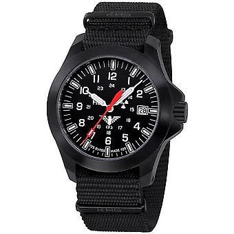 KHS horloges mens watch zwarte peloton LDR KHS. BPLDR.NB
