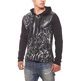 CARISMA speckled mens pullover Hoodie black