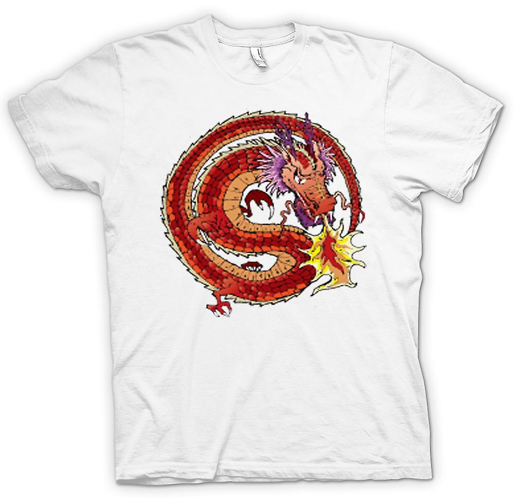 Womens T-shirt - Chinese Dragon Traditional Design