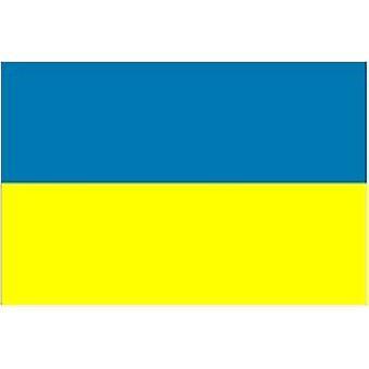 Ukraine Flag 5 ft x 3 ft (100% Polyester) med øjer til ophæng