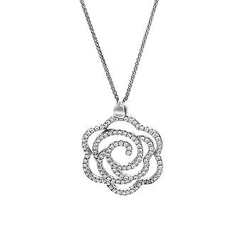 Orphelia Silver 925 Chain With Pendant Flower With Zirconium  ZH-7303