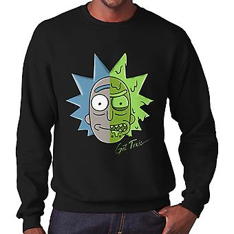 Rick And Morty Get Toxic Two Face Men's Sweatshirt