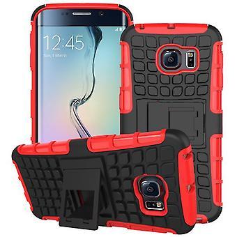 Hybrid case 2 piece SWL robot red for Samsung Galaxy S6 edge G925 G925F