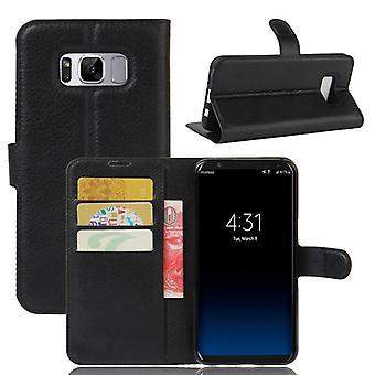 Preto de prémio de carteira de bolso para Samsung Galaxy S8 plus G955 G955F proteção luva capa case bolsa nova
