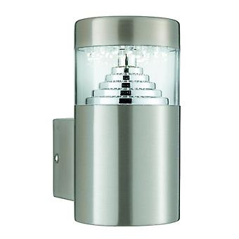 Brooklyn Led Outdoor Wall Light - Stainless Steel Square Backplate