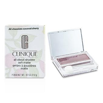 Clinique All About Shadow - # AX Chocolate Covered Cherry (Soft Matte) - 2.2g/0.07oz