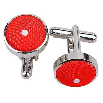 Rode Pin Dot Manchetknopen