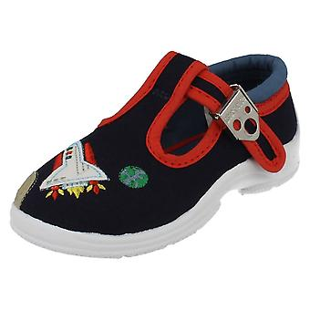 Boys Startrite Canvas Shoes Space Cadet