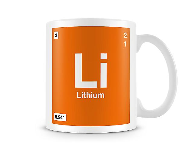 Element Symbol 003 Li - Lithium Printed Mug