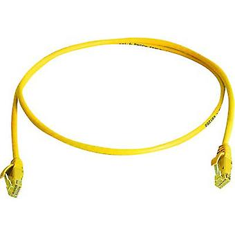 RJ45 Networks Cable CAT 5e U/UTP 0.5 m Yellow Flame-retardant, Halogen-free Telegärtner