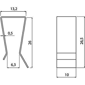 Transistor bracket Fischer Elektronik Suitable for: TO 220 (L x W x H) 26.5 x 10 x 13.2 mm