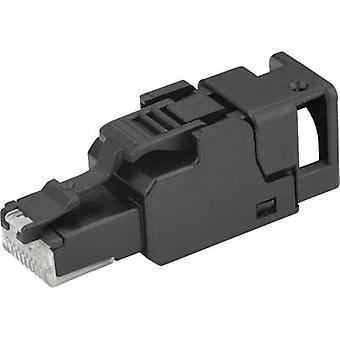 RJ45 plug, Field attachable Plug, straight UFP8 T568A Cat.6A Telegärtner J00026A3000 1 pc(s)