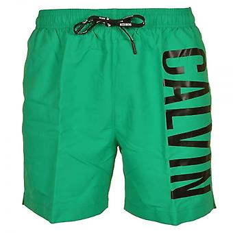 Calvin Klein Intense Power Swim Shorts, Green, Medium