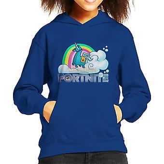 Camiseta de encapuchados Fortnite unicornio botín Llama Kid